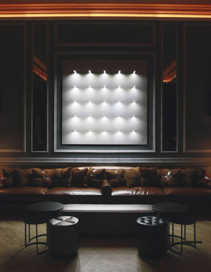 Radius by Random International; a sound-reactive installation at Home House members' club in London.