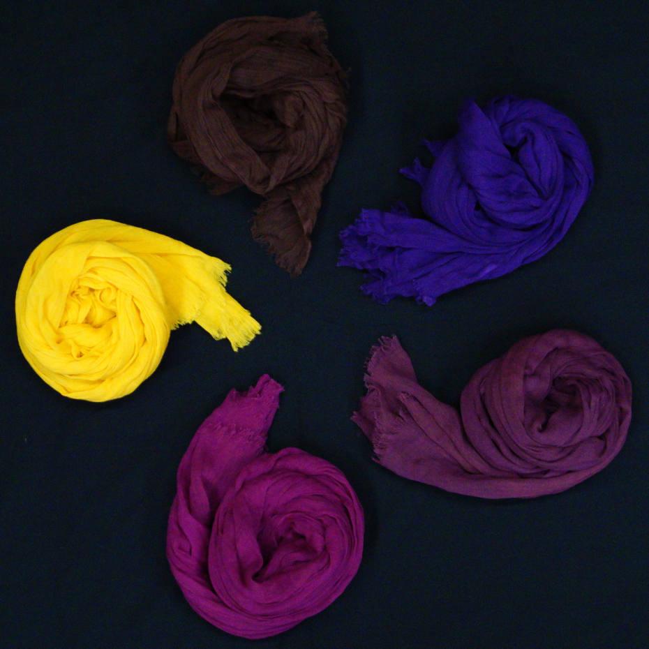 Massimo Piombo cotton scarves, €68 each