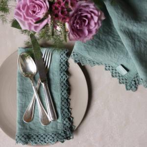 Once Milano macramé-trimmed napkin, €47