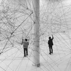 Tomás Saraceno's Algo-r(h)i(y)thms installation, 2018, at the Palais de Tokyo, Paris