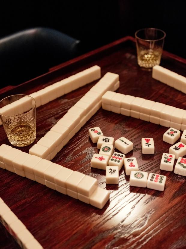 The private Mah Jong rooms are designed for dining, drinking and playing the beloved Chinese game