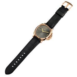 Panerai rose gold Luminor Due 3 Days Automatic 45mm watch on alligator strap, £20,700
