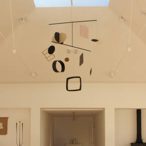 The Daniel Reynolds kinetic sculpture that recently hung at Design House at Wiltshire's New Art Centre