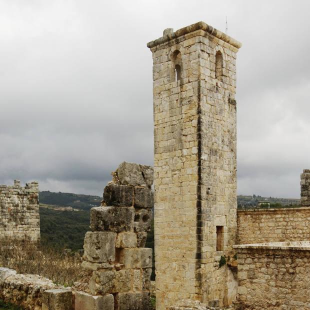 A minaret still stands in Salah ad-Din.