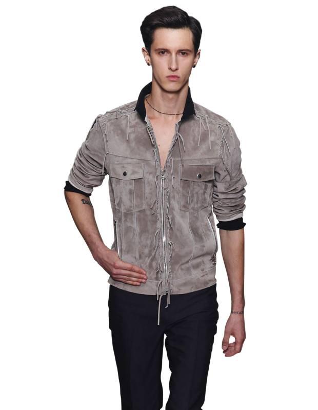 Lanvin suede zip jacket, £2,560