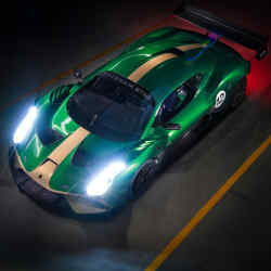 An elevated view of Brabham's BT62 supercar (priced £1m plus taxes)