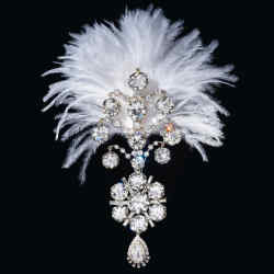 A spectacular feathered diamond turban ornament, or sarpech, with baguette and pear-shaped diamonds  is a star attraction of the auction, estimate $1.2m-$2.2m