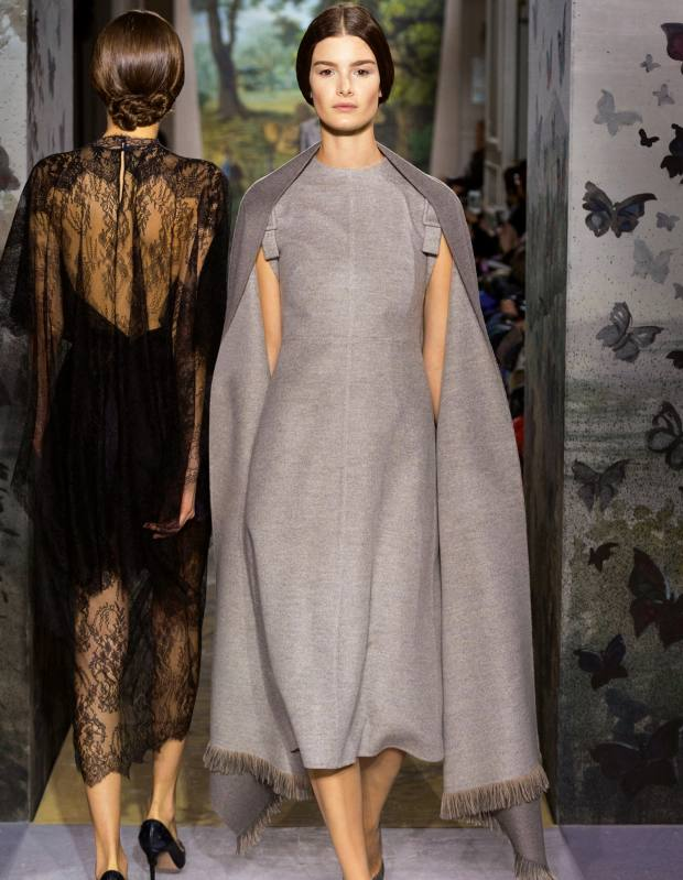 Valentino Haute Couture double-cashmere dress and cape, price on request