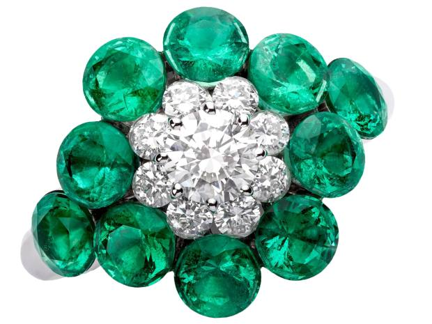 Chopard emerald and diamond Magical Setting ring, price on request