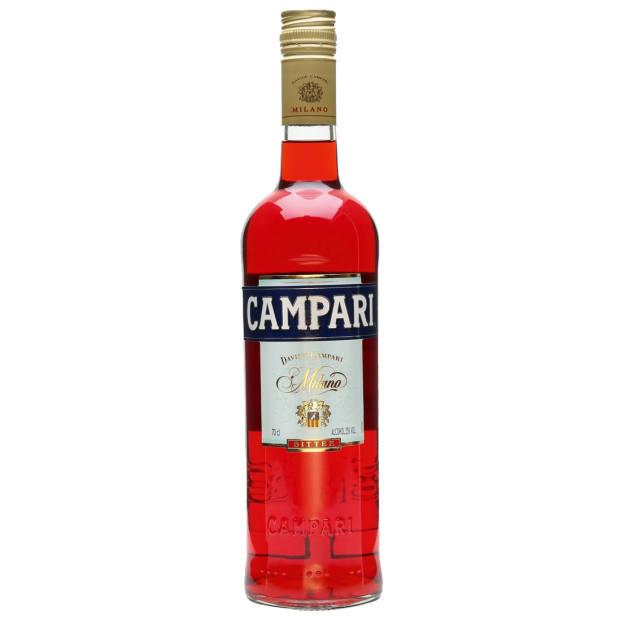 Campari – always found in his fridge