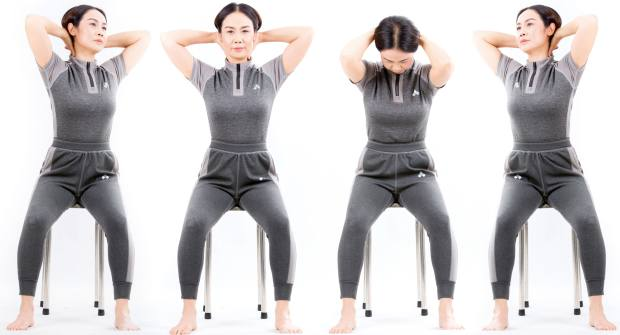 Chair‑based Gyrokinesis exercises are aimed at relaxing tight joints and strengthening muscles
