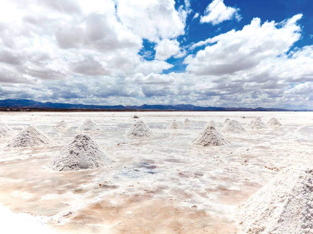The salt flats of Salar de Uyuni, Bolivia