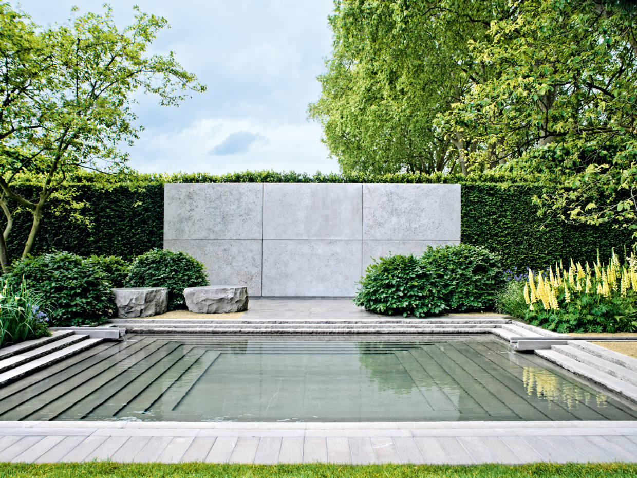 Luciano Giubbilei's design with its slender rills won Best Show Garden at the Chelsea Flower Show in 2014