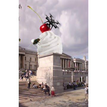 Heather Phillipson's The End, planned for the Fourth Plinth in Trafalgar Square, 2020-2022
