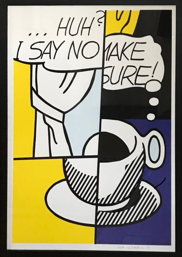 Roy Lichtenstein's Huh, Abiola's most valuable acquisition at £18,000