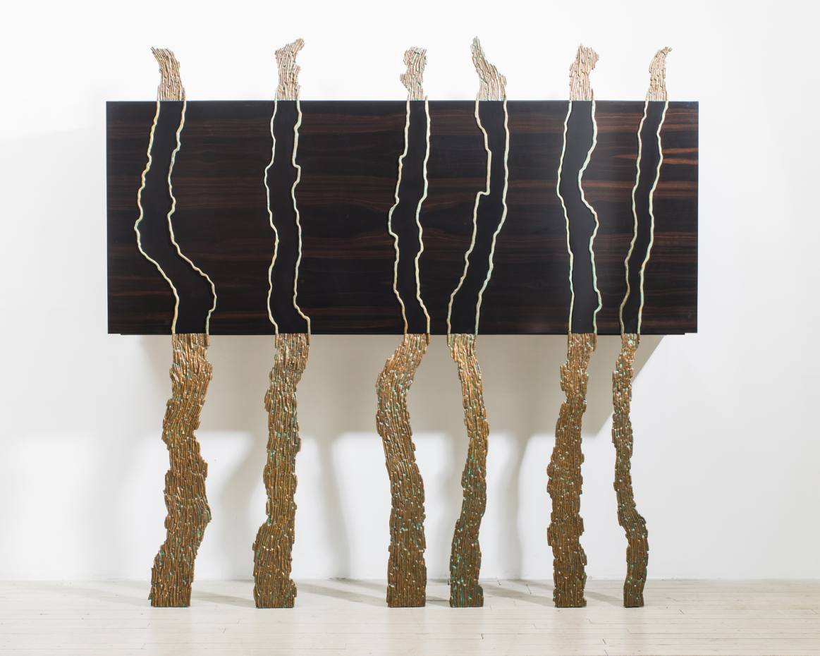 Bronze and ebony Brise Lames by Jean-Luc Le Mounier, from Todd Merrill, £61,000