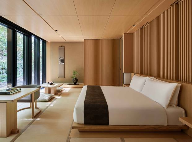 Aman Kyoto has mod-minimalist style and hot-spring healing