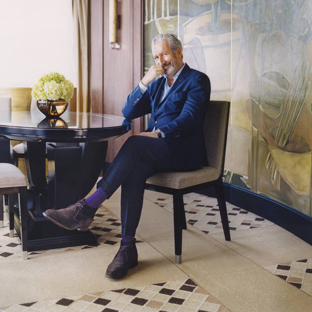 Thierry Despont in the Penthouse Suite at 45 Park Lane