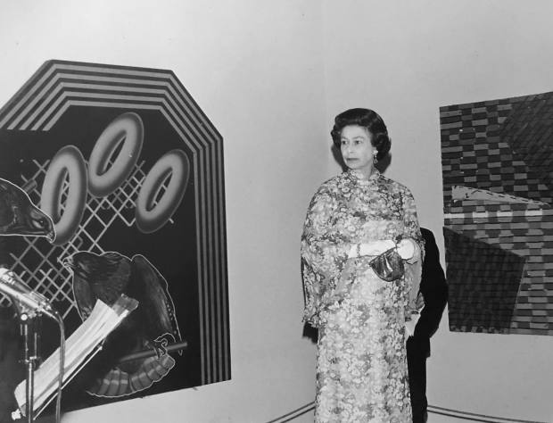 The Random Illusion collection has attracted the attention of such luminaries as the Queen, seen here with one of the works at the Tate in 1979