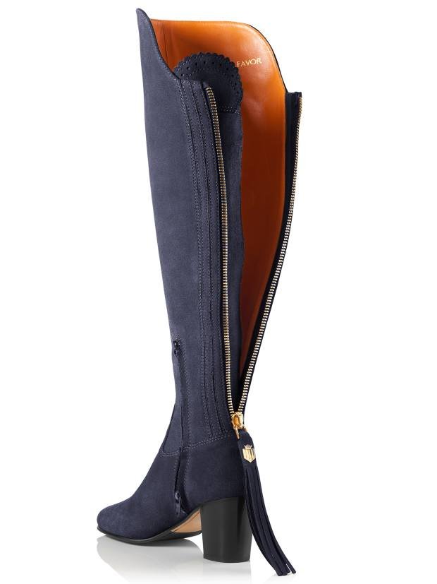 The Amira boot also comes in navy