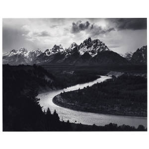 The Tetons and the Snake River, Grand Teton National Park, Wyoming, 1942 by Ansel Adams, $20,000-$30,000