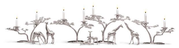 PatrickMavros sterling-silver Fari tree candelabras and giraffe family, £75,300