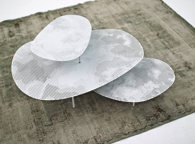 Moroso steel Clouds low table, from about £685