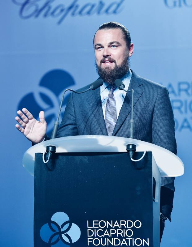 Leonardo DiCaprio, whose foundation has helped fund ocean protection around the Seychelles