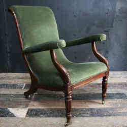 The English Regency mahogany librarychair purchased by the author for £275