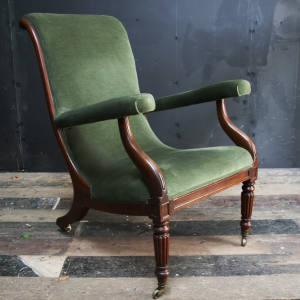 The English Regency mahogany library chair purchased by the author for £275
