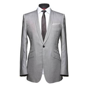 Silk-herringbone suit, £2,200