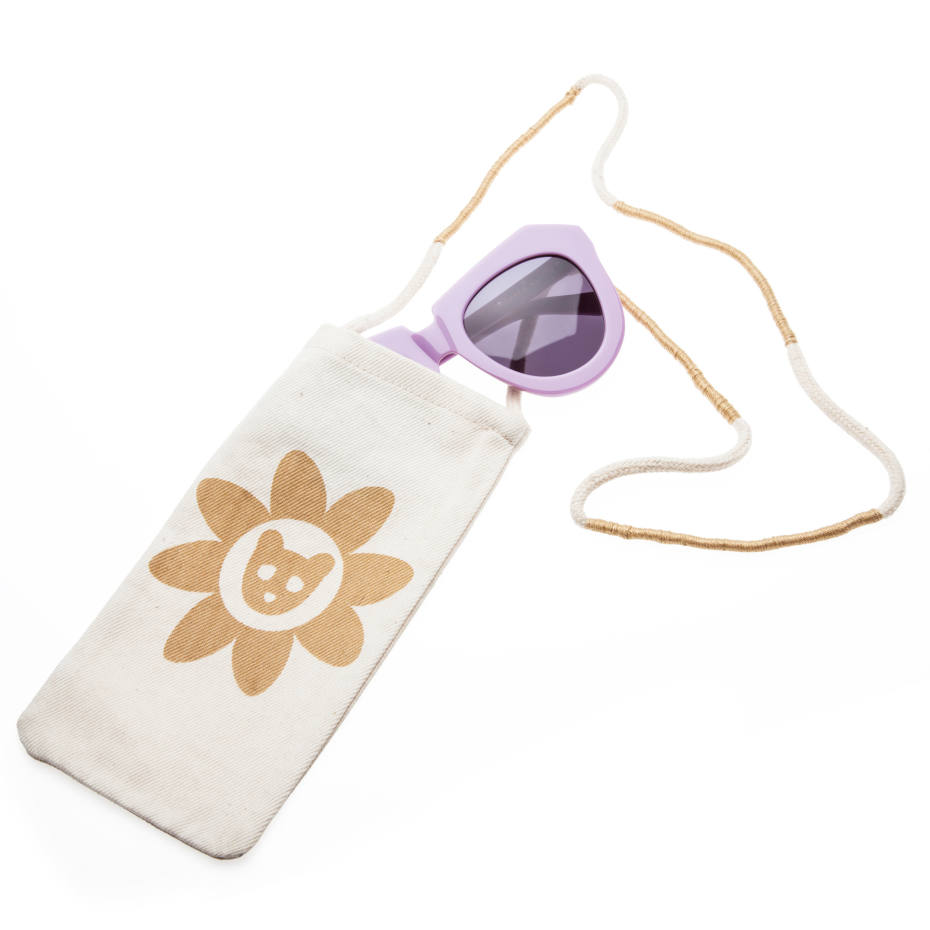 Karen Walker Eyewear One Worship sunglasses with gold bear pouch, from the Visible collection, £180
