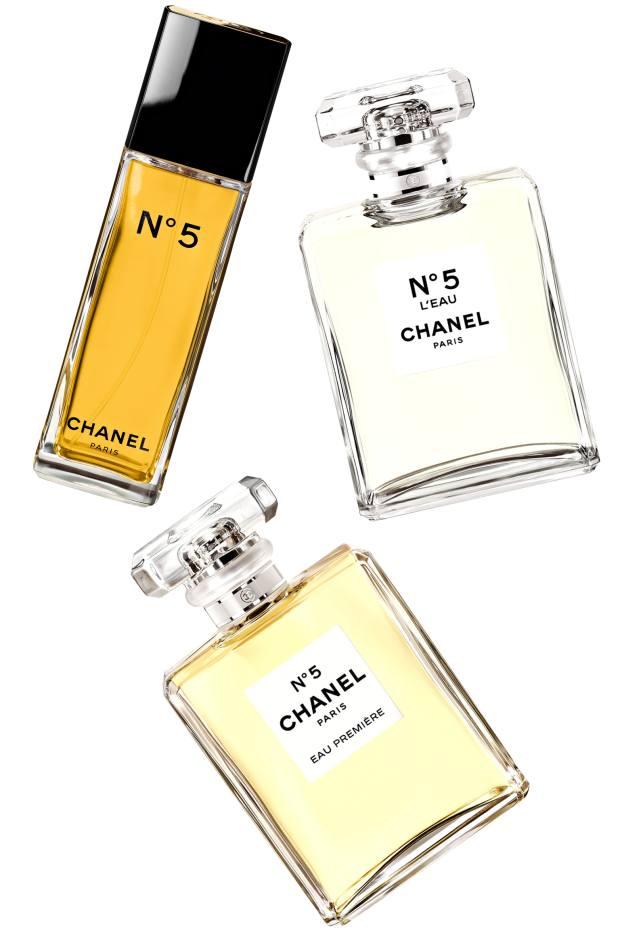 Chanel No 5 Eau de Toilette (£65 for 50ml EDT), No 5 L'Eau (£57 for 35ml EDT) and No 5 Eau Première (£55 for 35ml EDT)