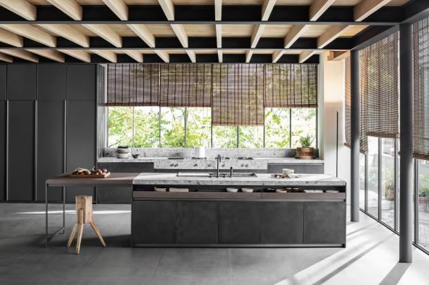 Vincent Van Duysen for Dada steel, stone and oak VVD kitchen, from £40,000