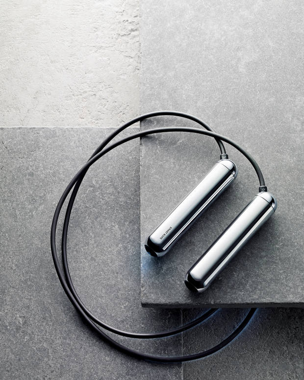 Tangram Smart Rope, available in chrome, gold and black, $79.95