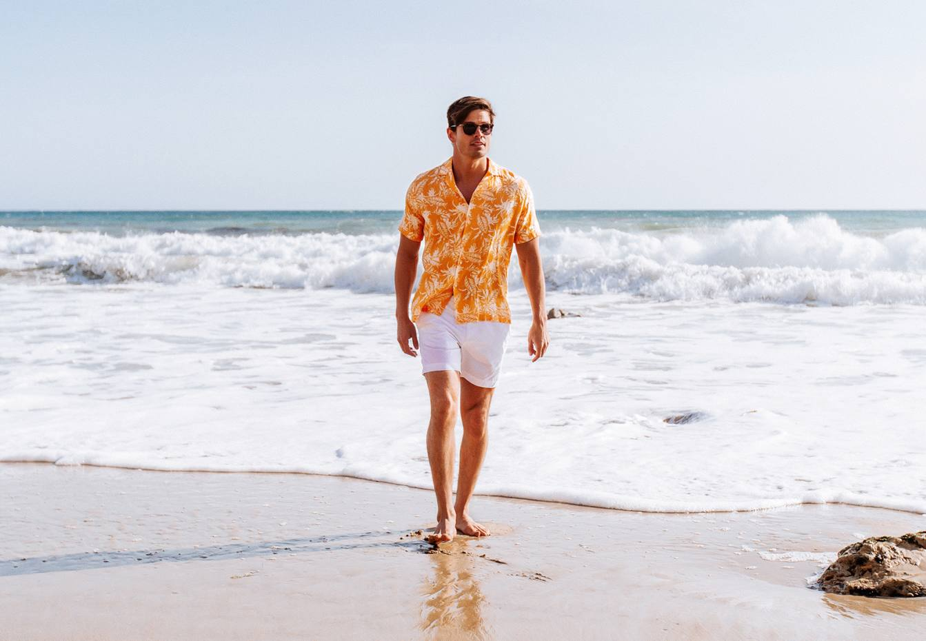 Bluemint linen Mars shirt, £90, and cotton Gordon shorts, £85