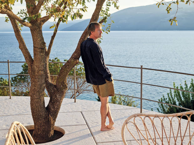 Marc Newson overlooking the Strait of Ithaca