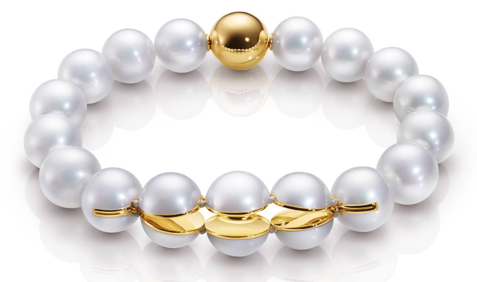 M/G Tasaki 18ct gold and freshwater pearl Sliced Series bracelet, £7,210
