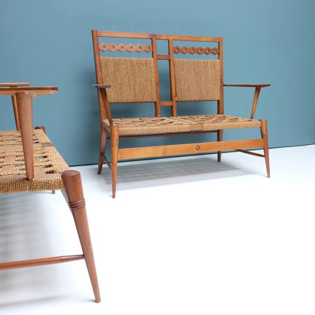 1920s cherrywood benches, price on request from Sans Pretention