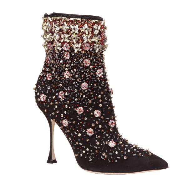 Manolo Blahnik embellished suede Zarina boots, £2,540