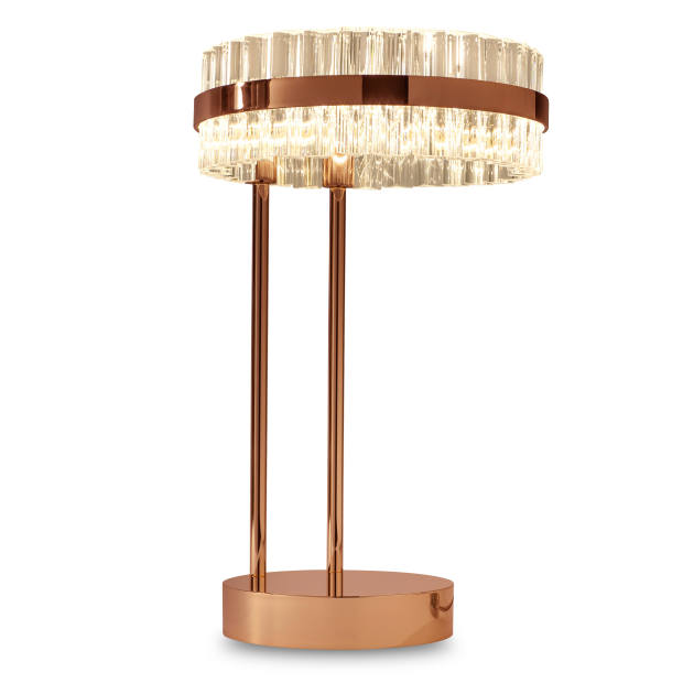 Baroncelli copper, crystal and brass Saturno table lamp, £2,390