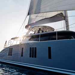 The four-cabin catamaran Blue Deer
