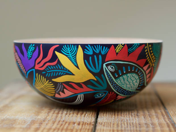 One of her bespoke bowls was inspired by the sea