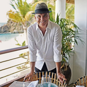 Chef Jean-Georges Vongerichten at Shellona restaurant, Shell Beach