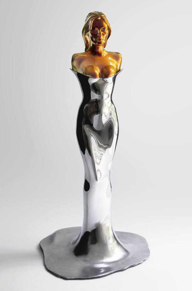 A Model Model, polished stainless steel and cast resin, 185.5 x 86 x 79 cm, 2015