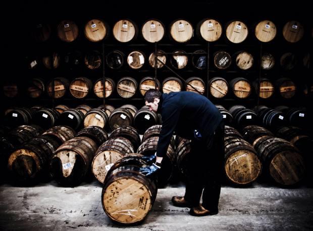 Bruichladdich Distillerys warehouseman Grant McLellan