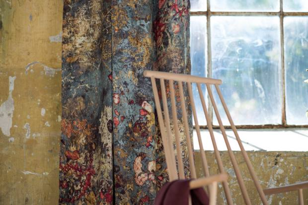 Earthed Faded Grandeur curtains, from the Upperlands collection