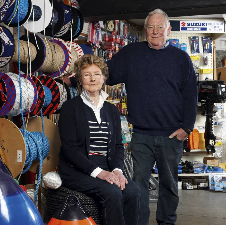 Owners John and Marion Crook