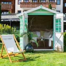 The Alpina Gstaad is playing host to three pop-up summer lodges, each inspired by different Nyetimber sparkling wines