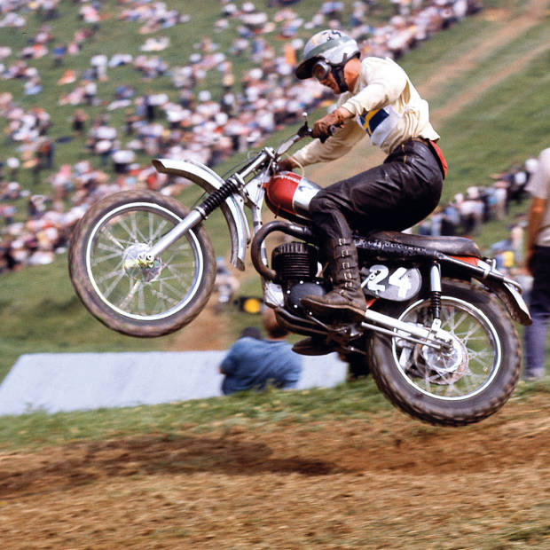 The annual Vets Motocross des Nations is held at the historic Farleigh Castle track near Bath